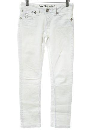 ATT Jeans Jeans a gamba dritta bianco-argento stile da moda di strada