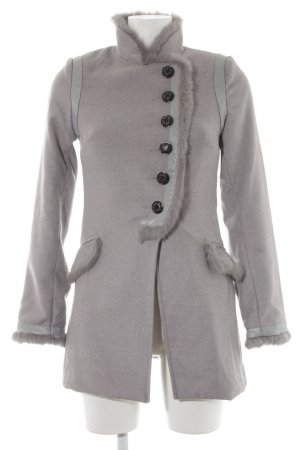 Attentif Fake Fur Coat light grey casual look