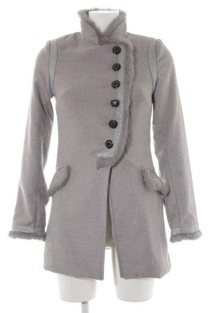 Attentif Cappotto in eco pelliccia grigio chiaro stile casual