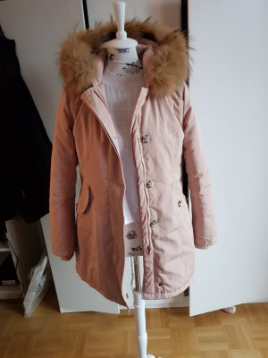 Attentif Parka color oro rosa-marrone chiaro
