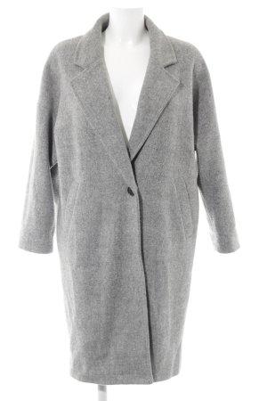 Attentif Oversized Mantel grau meliert Casual-Look
