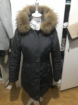 Attentif Paris echtfell Jacke xxl Fell Parka grau TOP 38