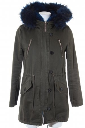 Attentif Parka green grey-blue casual look