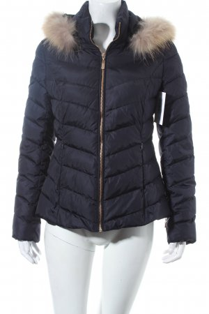 Attentif Quilted Jacket dark blue classic style