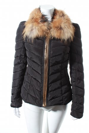 Attentif Quilted Jacket black classic style polyester