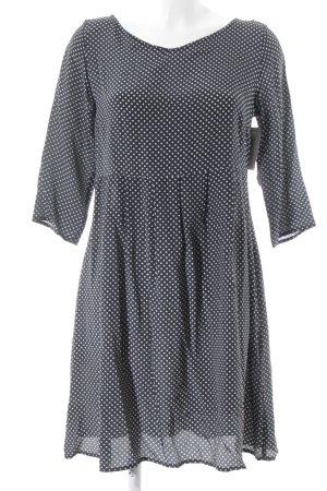 Attic & Barn Mini-jurk zwart-licht beige gestippeld patroon klassieke stijl