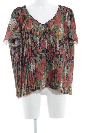 Attic & Barn Camisa tipo túnica estampado floral look casual