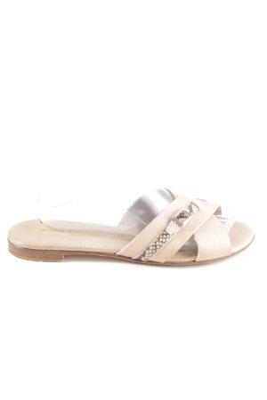 Attilio giusti leombruni Heel Pantolettes natural white animal pattern