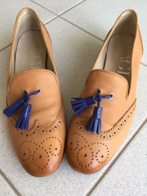 Attilio giusti leombruni Business Shoes beige-blue violet leather