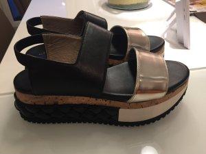 Attilio giusti leombruni Platform Sandals black-white