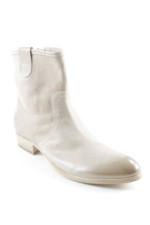 Attilio giusti leombruni Stivaletto con zip beige chiaro stile da moda di strada