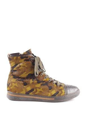Attilio giusti leombruni Schnür-Stiefeletten Camouflagemuster Casual-Look