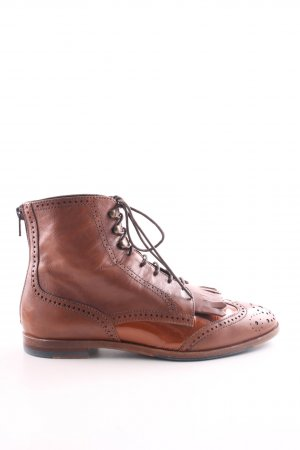 Attilio giusti leombruni Bottines à lacets brun style extravagant