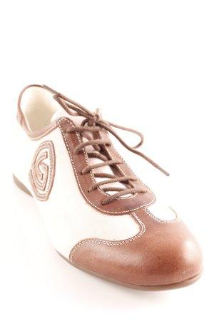 Attilio giusti leombruni Chaussures à lacets cognac-vieux rose