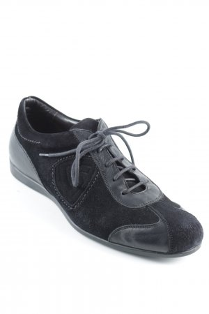 Attilio giusti leombruni Schnürschuhe schwarz sportlicher Stil