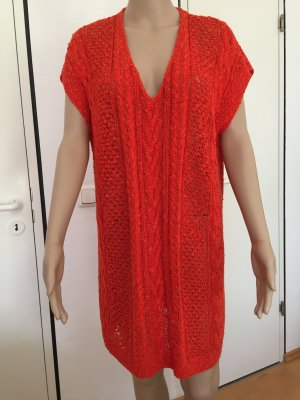 Attraktiver, Sommer Strick Pullover in Orange, Gr. 42/40.  22€