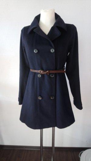 Tommy Hilfiger Wollen jas donkerblauw