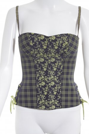 Aubade Corsage Top dark violet-yellow flower pattern lingerie style