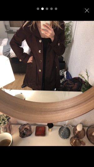Aubergine, lilaner Calvin Klein Mantel Jacke, L