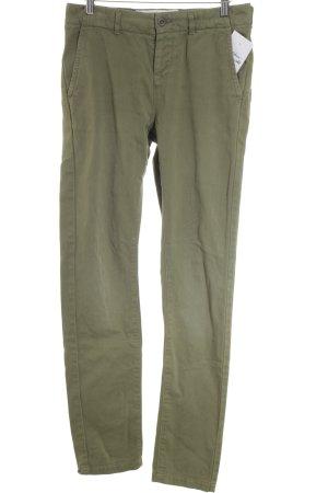 Aubin & wills Pantalone a vita alta verde prato stile casual