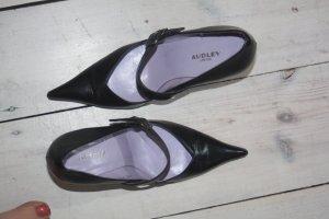 Audley Pumps 36,5 echtes Leder schwarz 37 Spangenpumps