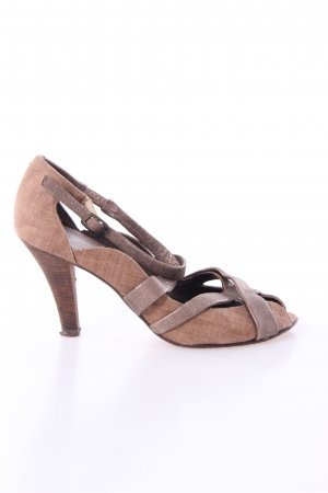 Audley Strapped High-Heeled Sandals bronze-colored-ocher