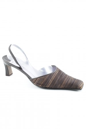 Audley Slingback-Pumps Streifenmuster Business-Look