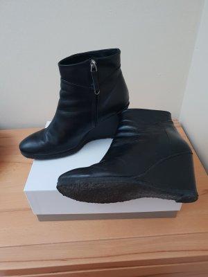 Audley Stiefletten Leder schwarz Keilabsatz Gr. 39