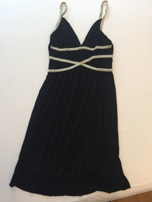 Audley Midi Dress black-gold-colored