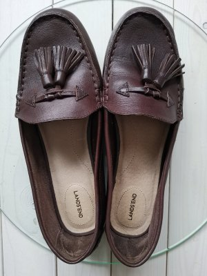 Lands' End Mocassins brun foncé