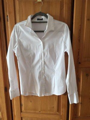 Auf Taille geschnittene Weiße Bluse mit Stretch