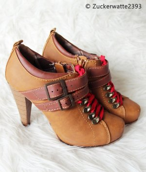 Zipper Booties multicolored imitation leather