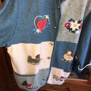Veste bavaroise multicolore laine vierge