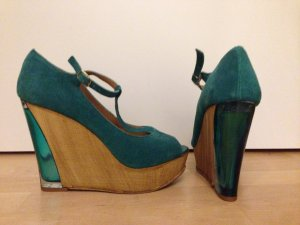 Zign Wedge Sandals petrol