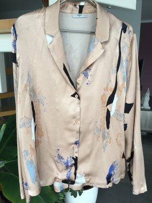 Auffällige MINIMUM Damen Bluse Hemd mit Muster auf altrosa in Gr. 40