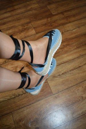 Espadrille Sandals black-pale blue