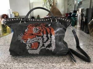 Shopper multicolored imitation leather