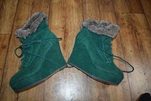Jumex Wedge Booties green-dark green