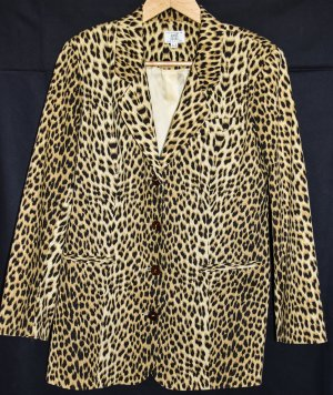 Alba Moda Long Blazer multicolored cotton