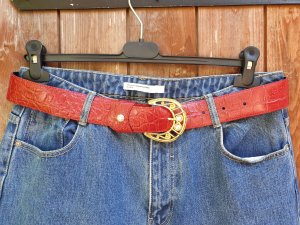 Hip Belt gold-colored-red