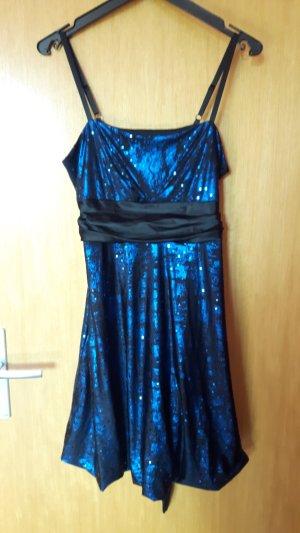 Yessica Abito con paillettes nero-blu