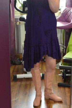 Auffälliges Kleid strechig Volant und 3 D Blume Gr. 42 von NAVEED