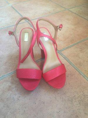 Platform High-Heeled Sandal red
