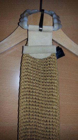 Auffallender Vintage Gürtel Massimo Dutti - Wildleder senffarben
