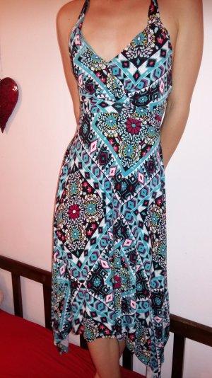 auffallendes farbenfrohes luftiges Sommerkleid