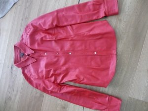 D&G Leather Shirt red leather
