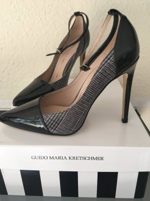 Guido Maria Kretschmer Strapped pumps black-grey