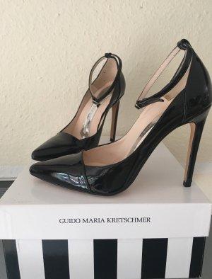 sale retailer 173d1 fc026 Aufregende Knöchelriemchen Lack Leder High Heels Gr39