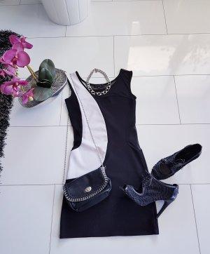 Amisu Mini vestido blanco-negro