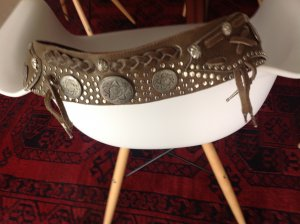 Amplified Studded Belt ocher leather